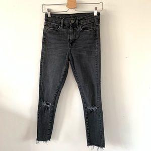 BDG crop twig jeans 26W faded black